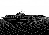 picture of hydrofoil  - Hydrofoil Tourist Cruise Speedboat Isolated Illustration Vector - JPG