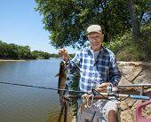 Elderly Man with a Catfish