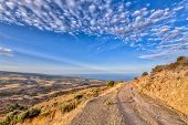 Mountain Road With View Over Sea On Cyprus Island poster