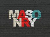 masonry poster