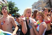 TEL AVIV - JUNE 12: Participants at Annual Gay Pride Parade and Week of Proud celebrations on the st