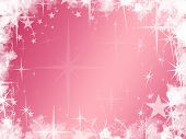 Grunge Pink Star Background