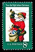 Usa 1972 Christmas stamp, Santa Claus