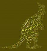 Wordcloud of kangaroo