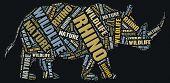 Wordcloud of rhino