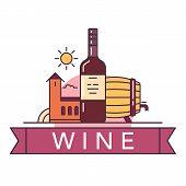 Постер, плакат: Wine Illustrations Items