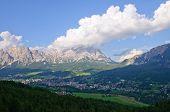 Cortina d ' Ampezzo y Cristallo - Dolomitas, Italia