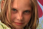close-up portrait of the nice young girl