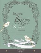 wedding invitation card design- vintage card