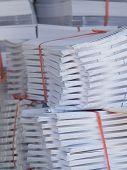 Stacks Of Paper At A Printshop