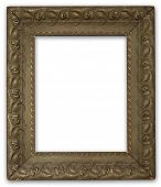 Painting frame. With clipping path.