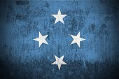 Weathered Flag Of Micronesia, fabric textured