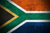 Weathered Flag Of South Africa, fabric textured
