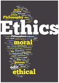 Ilustração de nuvem de palavra ética. Coleção da marca gráfica.