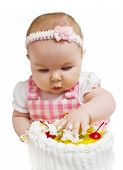 Little Girl With A Sweet Cake