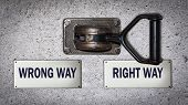 Wall Switch Right Way Versus Wrong Way poster