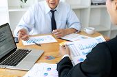 Business Businessman In Meeting Analyses Chart Graphy poster