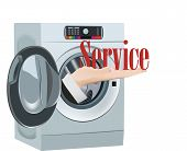 Clean Service Industrial Laundry Service Symbol Clean Service Industrial Laundry Service Symbol poster