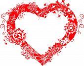Grunge Valentine Frame, Heart