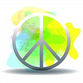 Peace, Friendship, Pacifism, Hippie Black Symbol Icon Vector Isolated On White Background. poster