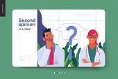 Medical Insurance Template -second Opinion On A Matter -modern Flat Vector Concept Digital Illustrat poster