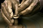 Hands Of The Potter On Potter'S Wheel