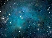 Nebulosa estrella espacio azul
