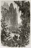 Breves district old view, Brazil. Created by Riou, published on Le Tour du Monde, Paris, 1867
