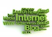 Internet green words concept