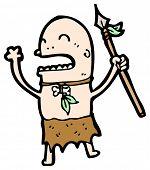 Stammes-Mann cartoon