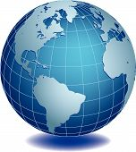 pic of world-globe  - Vector illustration of world globe on white background - JPG
