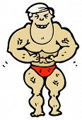 body builder cartoon