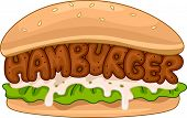 Illustration of a Juicy Hamburger