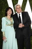 LOS ANGELES - FEB 26:  Mavis and Jay Leno arrive at the 2012 Vanity Fair Oscar Party  at the Sunset