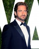 LOS ANGELES - FEB 26:  Gerard Butler arrives at the 2012 Vanity Fair Oscar Party  at the Sunset Tower on February 26, 2012 in West Hollywood, CA