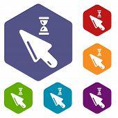 Cursor Icon. Simple Illustration Of Cursor Vector Icon For Web poster