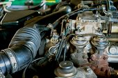 Car Engine Part.automobile Engine Part.old Style.powerful Engine Of Car poster