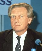 LONDON - APRIL 10: Michael Heseltine, Secretary of State for the Environment, attends a Conservative