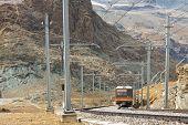 Gornergratbahn On Its Way To Gornergrat Summit