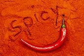 fresh red hot chili pepper
