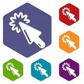 Cursor Technology Icon. Simple Illustration Of Cursor Technology Vector Icon For Web poster