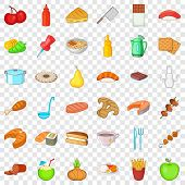 Master Icons Set. Cartoon Style Of 36 Master Vector Icons For Web For Any Design poster
