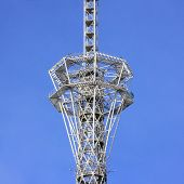 Close Up Of A Fragment Of A Telecommunication Tower