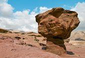Geological formation-mushroom and desert valley of Timna park, Israel