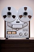 Analog Stereo Open Reel Tape Deck Recorderwith large reels