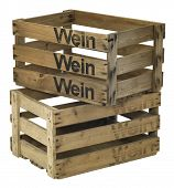 Two Wooden Wine Crates