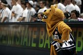 Penn State's mascot, the Nittany Lion, watches the game against Ohio State