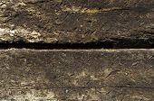 picture of railroad yard  - two railroad ties stacked texture or background - JPG