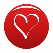 Best Heart Icon. Simple Illustration Of Best Heart Vector Icon For Any Design Red poster