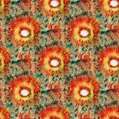 Seamless Tie-dye Pattern Of Red And Green  Color On White Silk. Hand Painting Fabrics - Nodular Bati poster